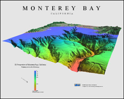 3D Perspectives of Monterey Bay