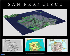 3D Perspectives of San Franciso